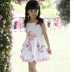 Wholesale Children Dresses Girls Advanced Floral Yarn Angel Rose Great Skirt Loving Bow