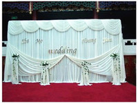 Wholesale 3m m Wedding backdrop curtain background white curtains