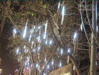 Wholesale Christmas lights cm white LED meteor lamp holiday decoration lights Christmas lights meteor showe