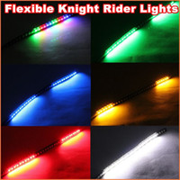 Wholesale High bright cm Flexible LED Knight Rider Lights with scanning Strobe flash LED Strip car Lights