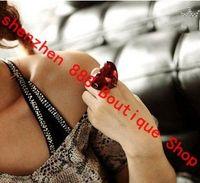 Wholesale Western Style Large Gemstone Heart Shaped Rings Stylish Jewelry Jewellery Eye Catching