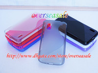 Wholesale Soft Silicone Shapes - S line shape wave soft clear Gel TPU silicone skin case cover cases For LG Nexus 4 E960 10PCS 20PCS