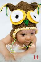 Wholesale Toddler Infant handmade Caps knitting hat beanies flower hat crochet hats cap wool style hat yalaifa