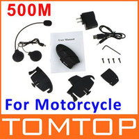 Wholesale 500M Motorcycle Bluetooth Multi Interphone Headsets Helmet Intercom dropshipping Whole