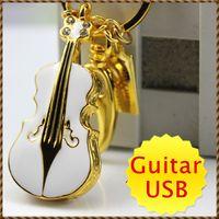 Guitar logo design free - Real GB GB GB USB Flash Drive in Gold Gutar Design FREE Custom Logo