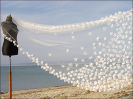 Wholesale Hotsale Customed Ivory White Elegant Flower Petals Cathedral Wedding Bridal Veils meters New