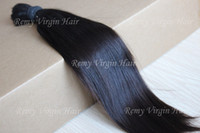 Wholesale 16 quot quot Unprocessed Brazilian virgin Human Hair Bulk Straight Natural Color g oz