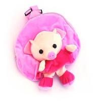 Wholesale children schoolbag baby pig cartoon school backpack plush toy bags baby s knapsack children satchel