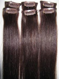 Wholesale high quality clip in hair IN STOCK indian remy virgin human hair g set