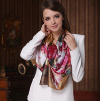 Wholesale Bohemia Silk Scarves Digital Printing Long Scarf OL