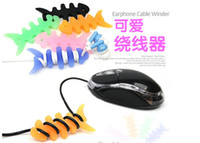 Wholesale Fishbone Earphone Cable Winder Silicone Rubber Winder