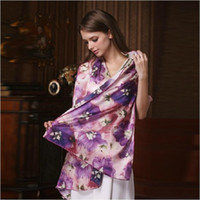 Wholesale Genuine Silk Scarves Bohemian Style Long Scarf Valentine s Gift