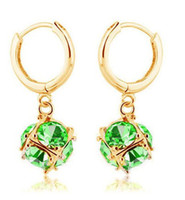 Wholesale 2013 New Crystal Hoop Earrings Shinning Diamond Chandelier Earrings Lady s Fashion Jewelry zxj E17