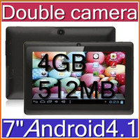Wholesale Q8 Q88 A13 Dual Camera inch Tablet PC Android Video Skype Game For Kids Black White Mix Colour PB7