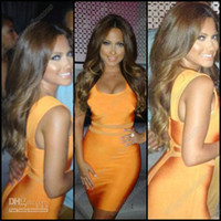 Wholesale Kim Kardashian Designer Wear Zipper Back Orange Evening Celebrity Dress CBDa001