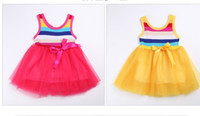 Very smart Baby dress Girls dress baby Stripe gauze dress ch...