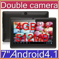 Wholesale 7 quot inch Capacitive Double camera Allwinner A13 Android Tablet PC GB MB WiFi Youtube PB7