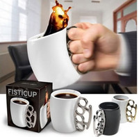 Wholesale Knuckle Duster Mug Fisticup Finger Handle Coffee Milk Drinking Cup Ware Bar Gift