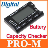 Wholesale RC CellMeter Digital Battery Capacity Checker Tester LiPo LiFe Li ion NiMH Nicd for RC helicopter