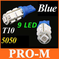 Wholesale 9pcs SMD LED Car T10 W5W Side Wedge Light Lamp Bulb Blue indicator lights