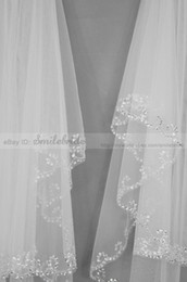 Wholesale 2012 New fashion Layer Handmade Beaded wave edge Bridal Accessories Veil