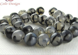 8mm black white dragon agate natural gemstone loose beads DIY jewelry necklace bracelet