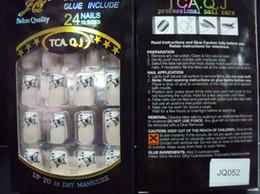 Nall Tips new Full Cover False Nails 20boxs lot Acrylic Nail Supplies False nails With Glue (24pcs box) Pre Designed Nail Tips