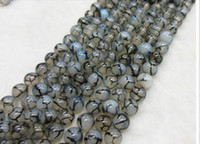 6 mm  natural beads - 6mm black white dragon agate natural gemstone loose beads DIY jewelry necklace bracelet