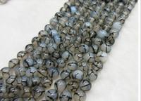 achat en gros de bracelets de bricolage pierres précieuses-6mm noir blanc dragon agate naturel pierres précieuses loose perles DIY bijoux collier bracelet