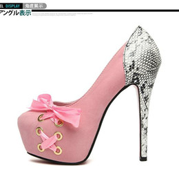 Wholesale New Baby Pink Blue Black Adorable Comfortable High Platform Strappy Heels Club Shoes
