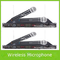 Wholesale Pro Audio Professional Wireless Karaoke System Dual Microphones Clip On Mic