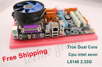 Wholesale G41 with xeon dual core CPU G L5148 compo desktop motherboard with ddr3 ram and Fan