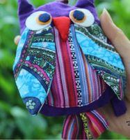 Wholesale ZJ new handmade cotton owl Coin Purses cm color