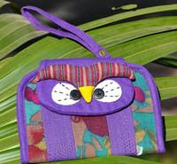 Wholesale ZJ MORE color new handmade cotton owl Coin Purses Wallets cm color