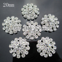 Wholesale 50pcs mm Clear Acrylic Rhinestone Buttons Round Diamante Crystal Hair garment accessory GZ006