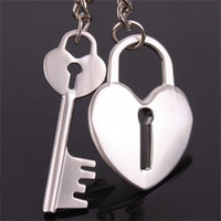 Wholesale quot lock and key quot Alloy Personalized Couples Lover Keychains Valentine Gifts Novelty Items Rings
