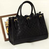 Wholesale Hot New Celebrityshould bag Women s Pu Leather Black Baguette Totes Shoulder Bags Handbag Purse