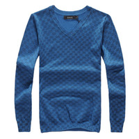Cashmere 100 cashmere sweater - French brand new Men s sweater Boys sexy dress Sweaters cashmere blue Ems Free ship AAA quality