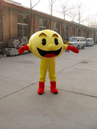 Wholesale Hot New Arrival Custom made Pac Man Mascot Costume Adult Size