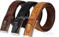 Wholesale Men s Leather Belt Crocodile Lines Belt Colors DHL