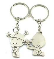 Wholesale Valentine s Day child flowers wedding wedding gift cheap key chain ring gift lover couple keychain