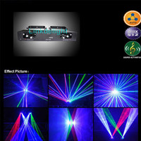 Wholesale DHL mW lens Red Blue Green Blue Dual Tunnel heads RBGB Fat beam Laser DJ Light Disco Stage Lighting