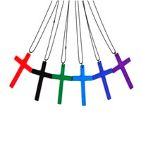wooden cross necklace - Wooden Cross Necklace Mixed Colors Cross Pendant Necklace For Women