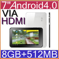 Wholesale 7 GB Android Tablet VIA8850 GHz Point Touch Capacitive WIFI HDMI mp4 PB7
