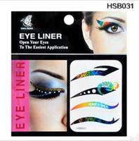 Wholesale The dance big eye makeup eyeliner Sticker eye shadow paste