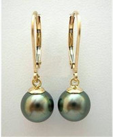 Wholesale Natural southsea Saltwater Black Shell Pearl Earring