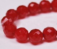 Wholesale 8mm Faceted Red Ruby Round Gems Loose Beads