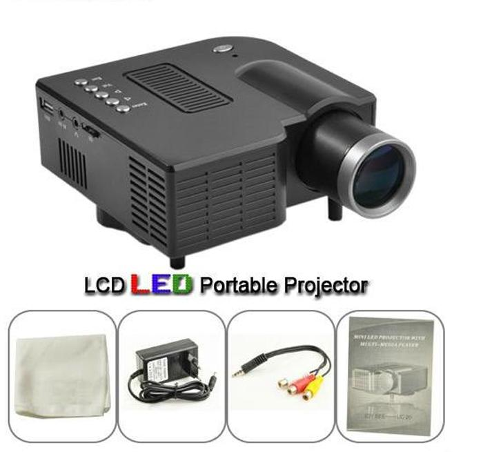 Buy led mini projector lcd portable projectors built in for Small lcd projector reviews