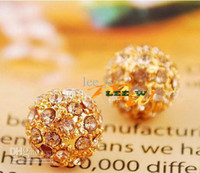 Wholesale 9MM New Rhinestone Beads orange Crystal Loose Beads Fit Braceles