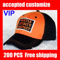 Wholesale VIP HOT John Cena Hustle Loyalty Respect Baseball Cap caps Orange Baseball hat hats and free shpping